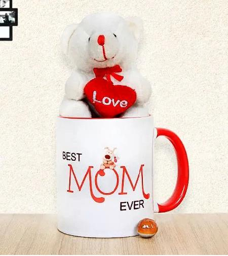 Best Mom Mug and Teddy
