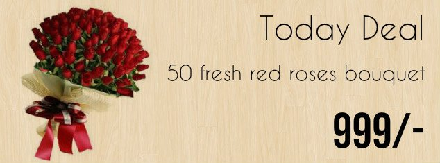 50 Red Roses Bunch @ 999/-