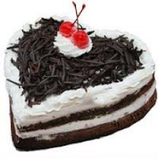 2 KG Heart Shape Black Forest Cake