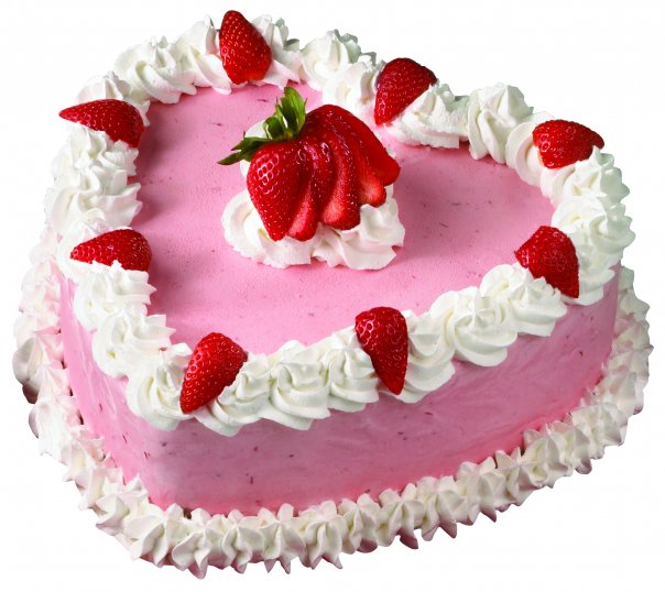 2 KG Heart Shape Strawberry Cake