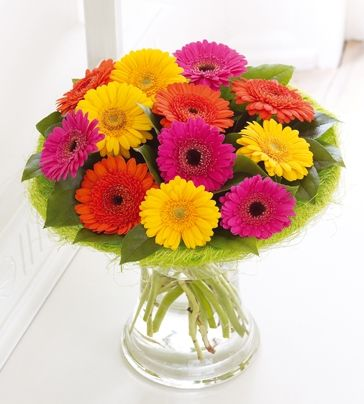 Multi Colour Gerbera Vase