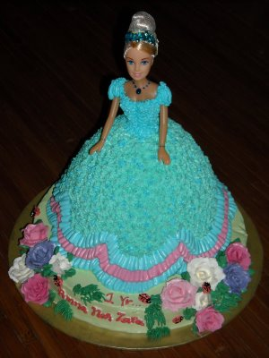 3 KG barbie Doll Cake