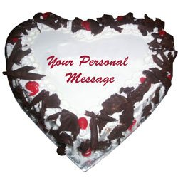 3 KG heart Shape Black Forest Cake