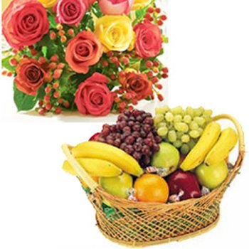 Flowers and 4 KG Fruits