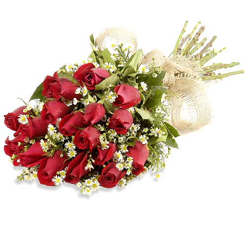 20 Red Roses Paper Wrapping Bouquet