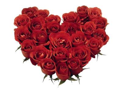 30 Roses Heart Shape Arrangement