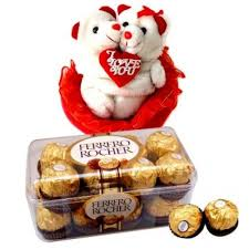 Twin Teddy and Ferrero Rocher