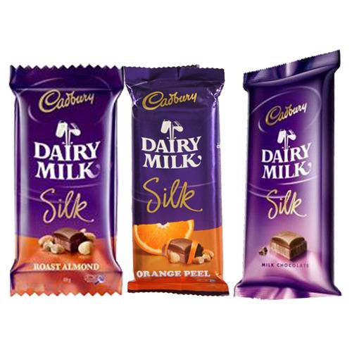 3 Dairy Milk Silk Chocolates