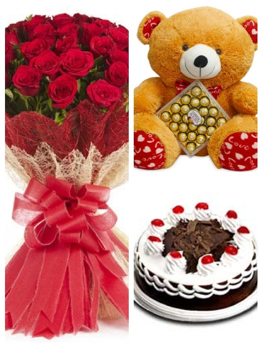 50 Roses and Gift Hamper