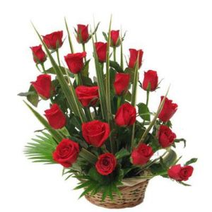 20 Red Roses Basket
