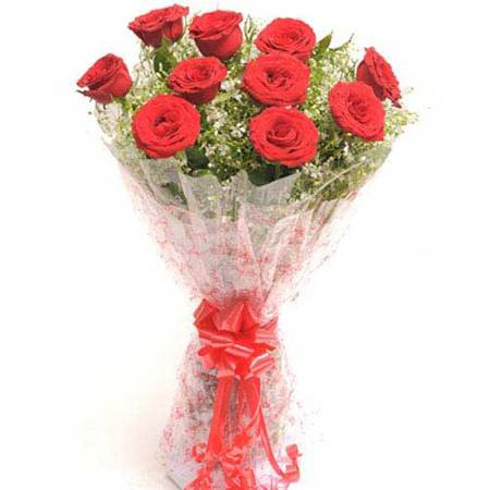 10 Red Roses Bunch Mumbai