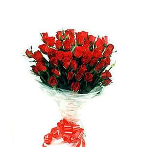 Delux Bunch of 36 Red Roses
