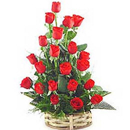 One Sided 24 Roses Basket
