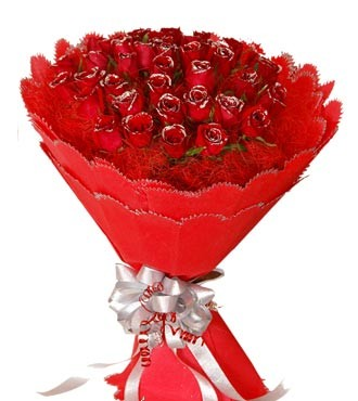 Luxury 50 Red Roses Bunch
