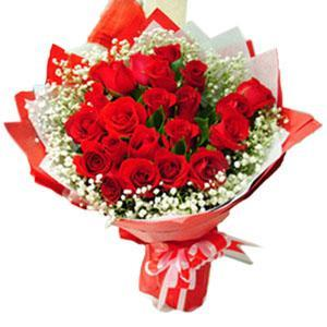 24 Red Roses Bouquet Double Wrapping