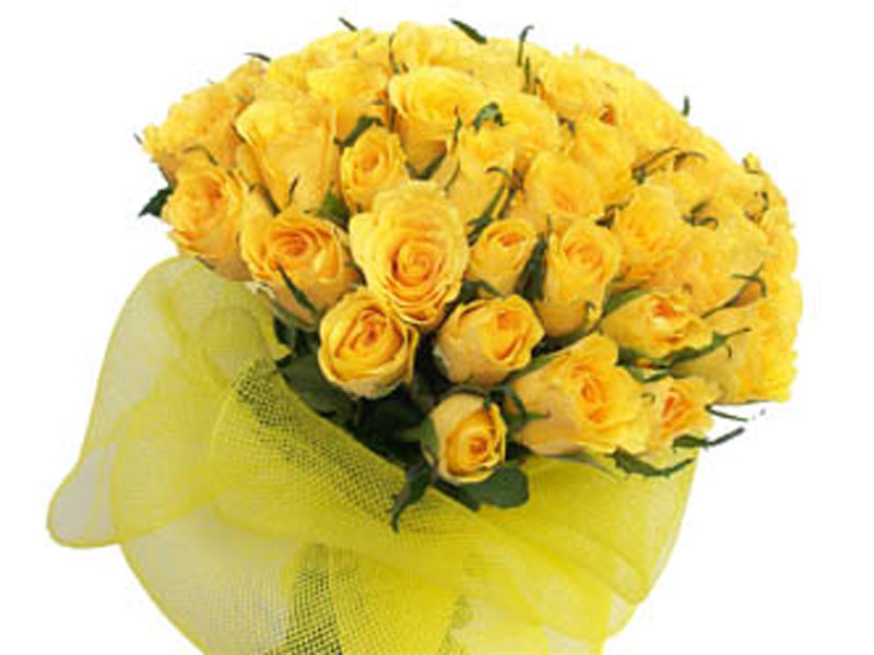 Mother's Day Flowers - 30 Yellow Roses Bunch