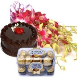 Orchids with Cake and Ferrero