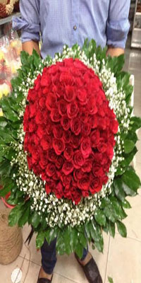 100 red rose big bunch