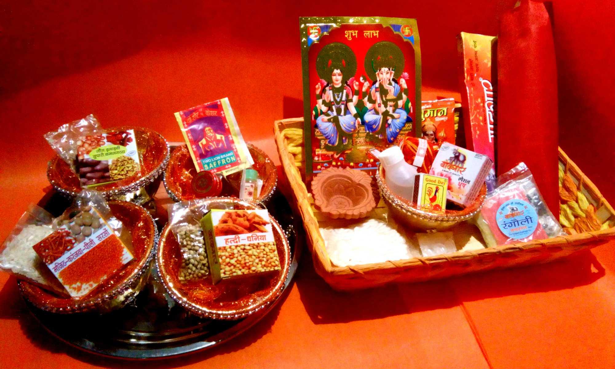 Image result for diwali puja samagri