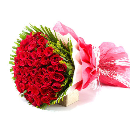 50 Red Roses Valentine Bunch
