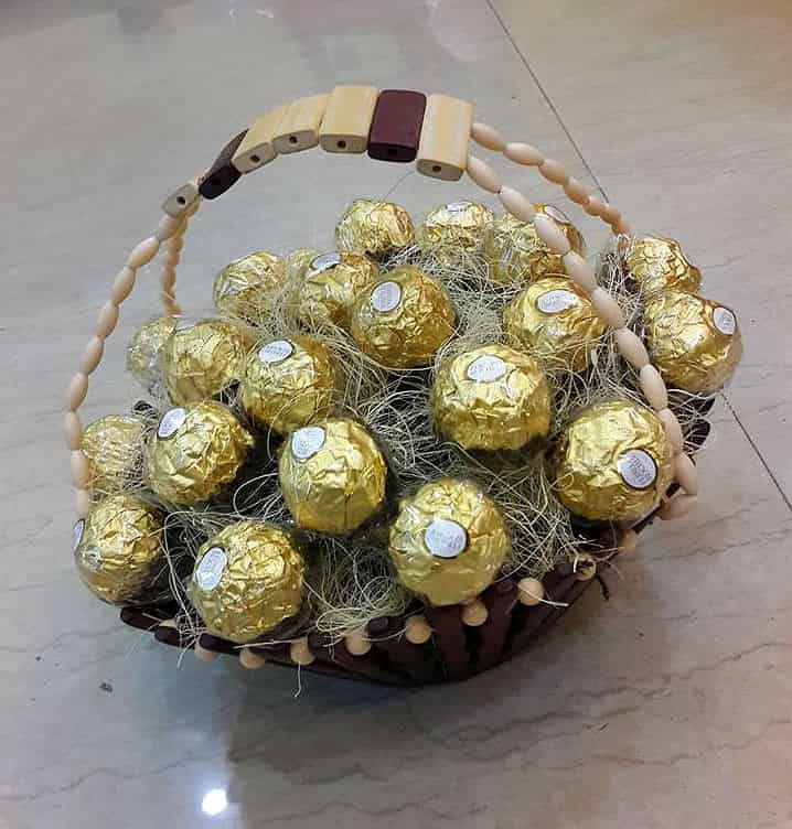 Wooden Ferrero Arrangement