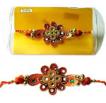 Zari Rakhi for Brother C1851