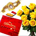 Cadbury Celebration with Yellow Roses
