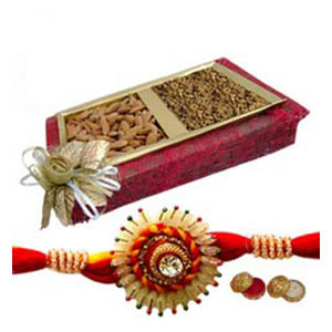 Rakhi Pack with Dry Fruits C1132