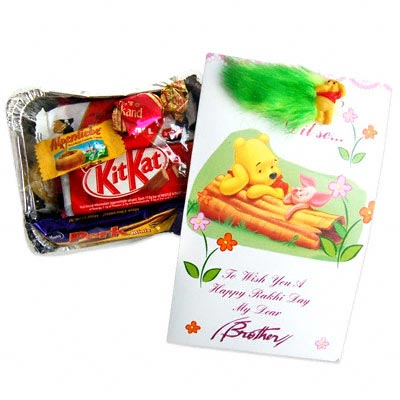 Rakhi Card and Chocolate Pack C1104