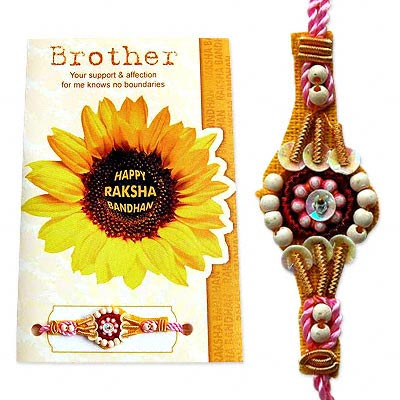 Beautiful Rakhi with Card C1096