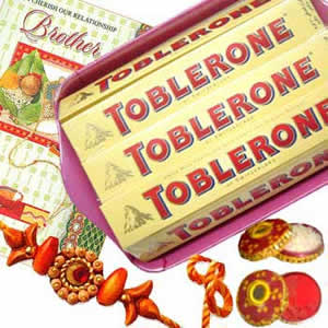 Rakhi with Toblerone C1072