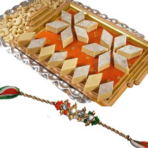 Rakhi Small Hamper with Kaju Katli C1057