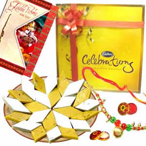 Rakhi Medium Combo with SweetsC1054