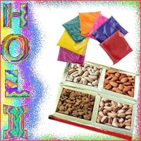 Holi Rang and Dryfruit