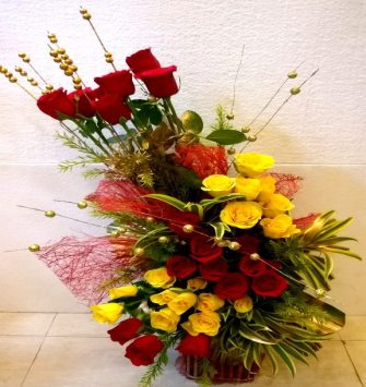 Red and Yellow Floral Combination