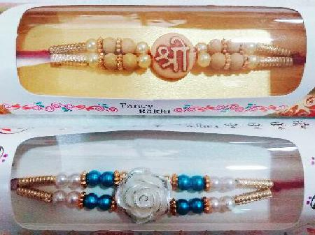 Shree and Floral 2 Rakhis