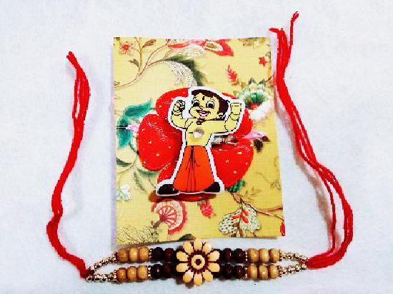 1 Bheem and 1 Floral Rakhi