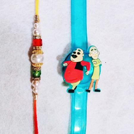 Motu Patlu and Pearls Rakhi