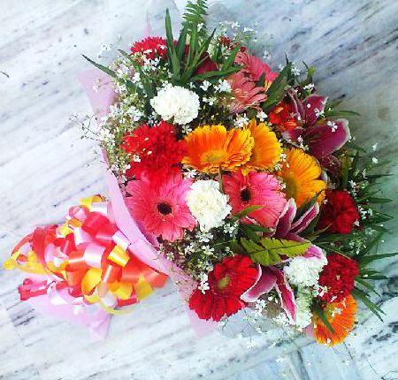Mix Flowers and Multicolour Bouquet