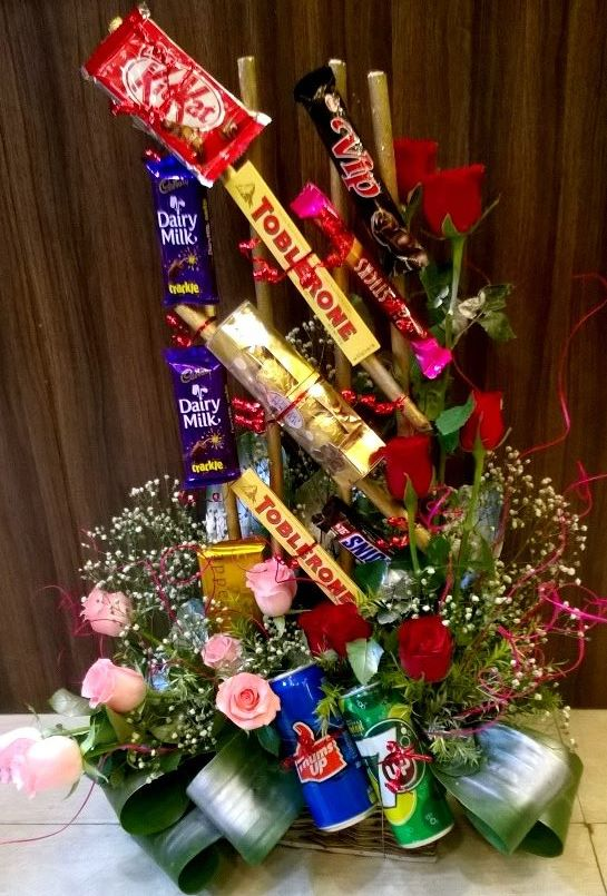 chocolates arrangement