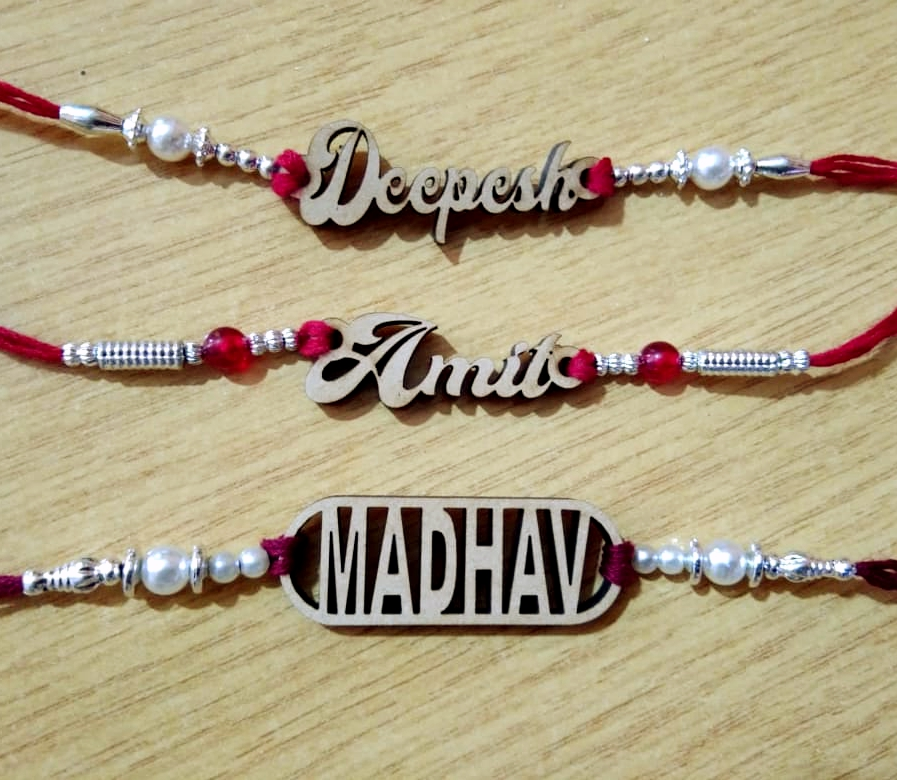 Wooden Name Rakhi