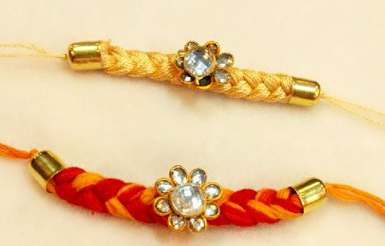 Red and Yellow New Design Rakhi