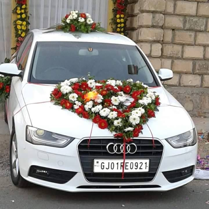 Marriage Car Decoration Floral Heart with 2 Arrangements