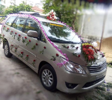 Car Deco with 2 Arrangement and 50 Rose Sticks