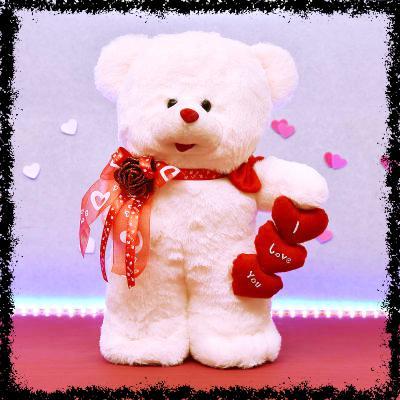 Valentine Standing Teddy