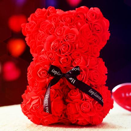 Valentine Rose Foam Teddy Bear