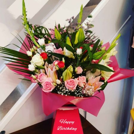 Happy Birthday Flowers Arrangement