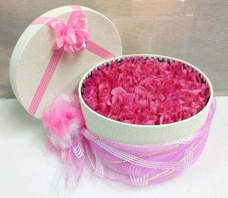 Pink Roses for Girls in a Pink Box