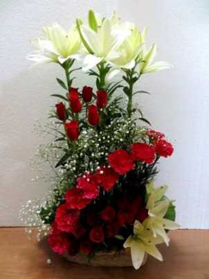 Rose n Lilium Arrangement