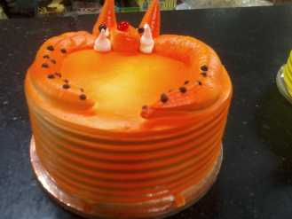 Orange Funny Face Cake
